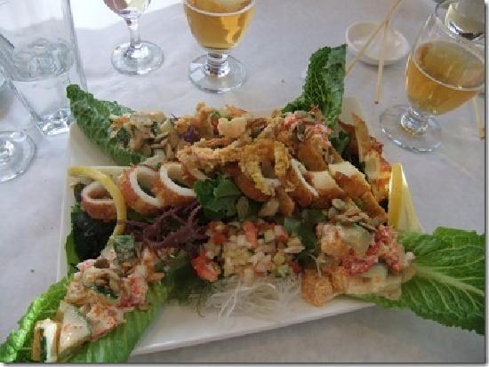 Mountain Flying Fish: Crab and Calamari Salad