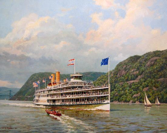 Kingston, NY: steamboat painting