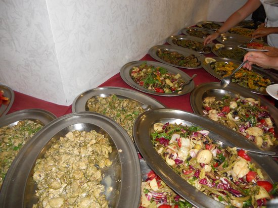 Hotel Tramonto d'Oro: Buffet di verdure