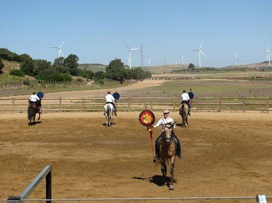Medina-Sidonia, Espanja: dimostrazione di come vivevano i vaqueros