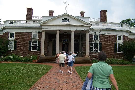 Thomas Jefferson S Monticello Front Of The House