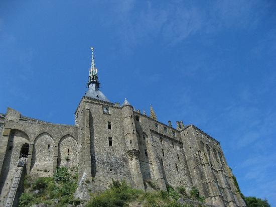 Mont-Saint-Michel, France: The ramparts of Mont-St-Michel