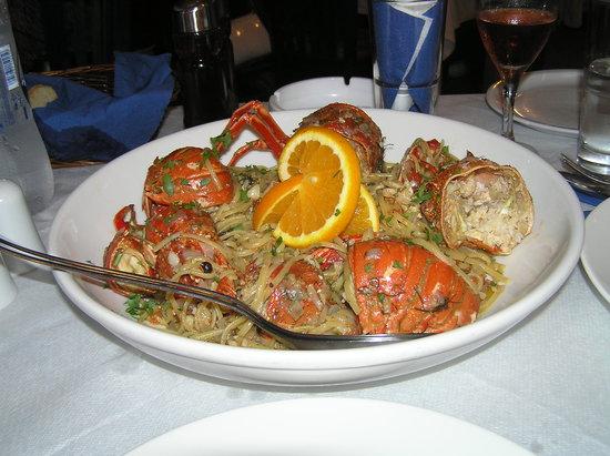Sunset Ammoudi Taverna : Lobster Spaghetti