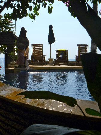 Cleopatra Beach Bungalows : pool and gardens at Cleopatras