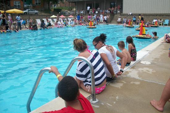 Harpers Ferry KOA: the Big Pool at the Pirate Boat Races