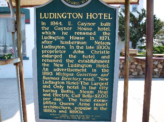 House of Ludington: The sign out front
