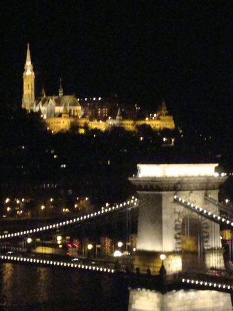 Sofitel Budapest Chain Bridge: night view from our room