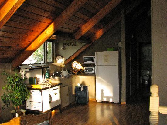 Cobblestone Manor: upper rooms kitchen