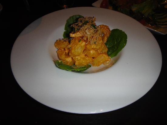 Koi Lounge Bangkok : spicy shrimp