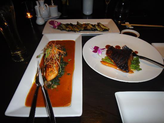Koi Lounge Bangkok : salmon cod and eggplant