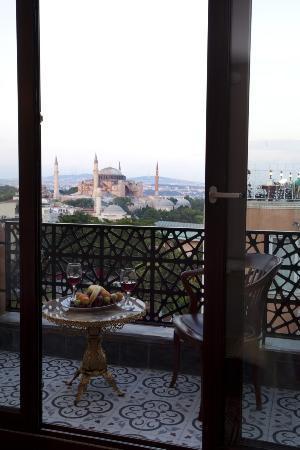 Burçkin Suites Hotel: balkon