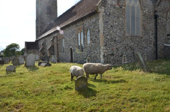The Fishers Hotel : this church is your indicator to turn from the sea and back to the hotel