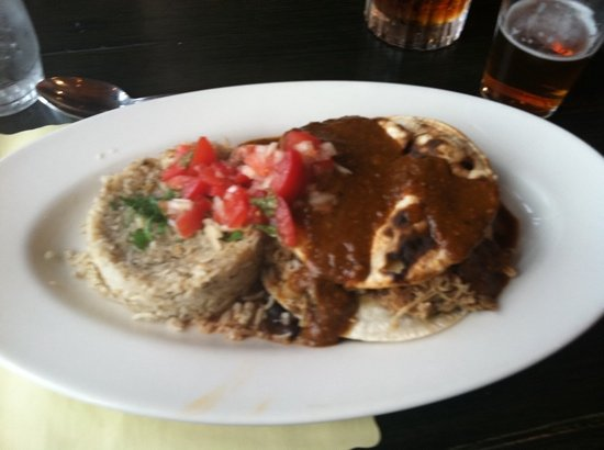 Radium Hot Springs, Canada: enchiladas with mole