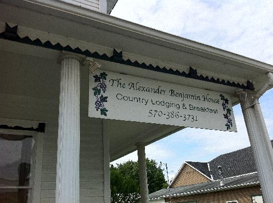 The Alexander Benjamin House Country Lodging: The name says it all.