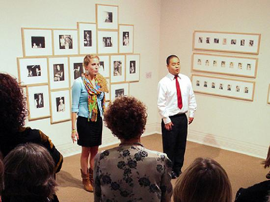 "Ackland Art Museum: Sacrificial Poets performing in ""Big Shots: Andy Warhol Polaroids"" exhibition, 2010."
