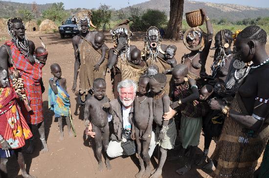 Jinka, Etiopía: Mursi Volk