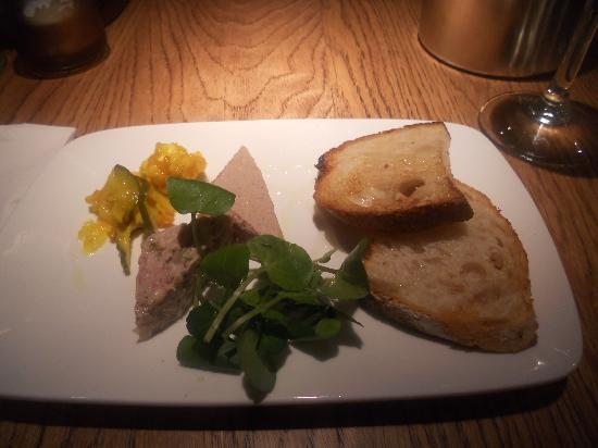 The Opposition Bistro: Duo of Home-made Chicken Liver Pate and Course Country Terrine