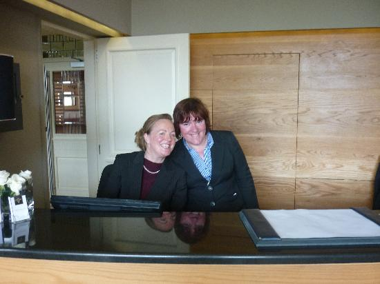 The West Cork Hotel: The lovely Edel on reception and duty manager who couldn't do enough