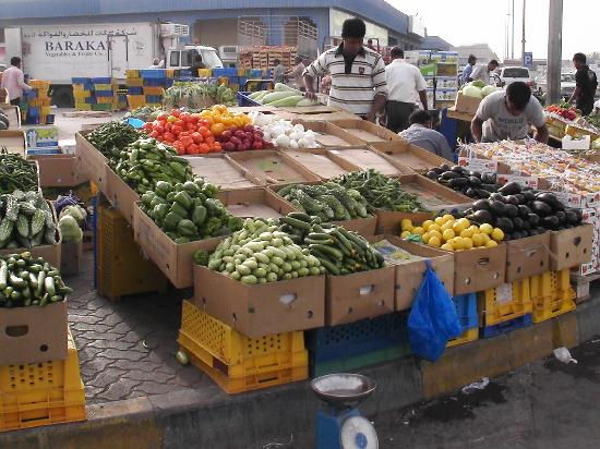 Abu Dhabi, Vereinigte Arabische Emirate: Auf dem Obst- und Gemüsemarkt