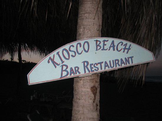 Kiosco Beach: Beach sign