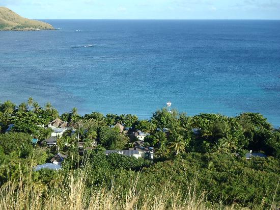 Blue Lagoon Beach Resort: BLBR from the hill behind