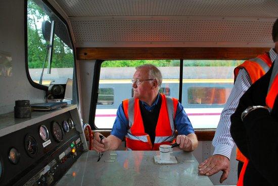 Ecclesbourne Valley Railway: Myself driving
