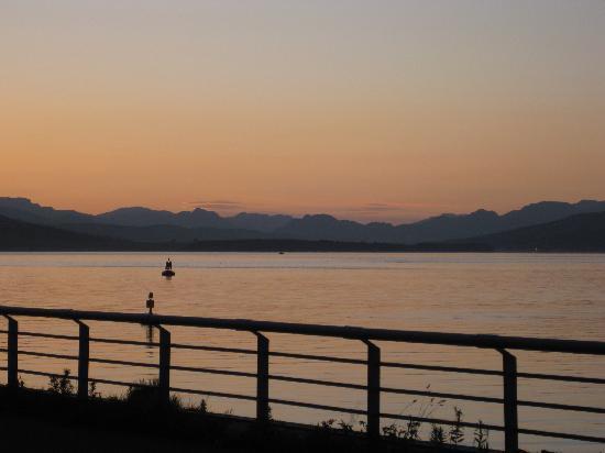 Γκρίνοκ, UK: coucher de soleil 21 heures depuis l'hotel