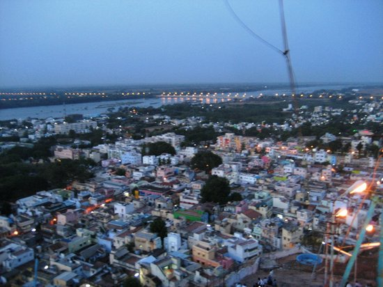 Tiruchirappalli, Inde : Trichy City view from atop rock fort