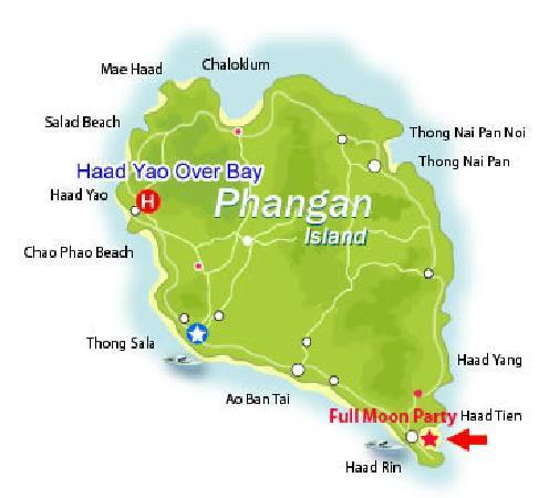 Haad Yao Over Bay Resort: Map