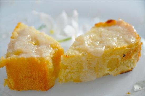 Lemon Cake w/Sorbet--delightful dessert @ Emerson Spice