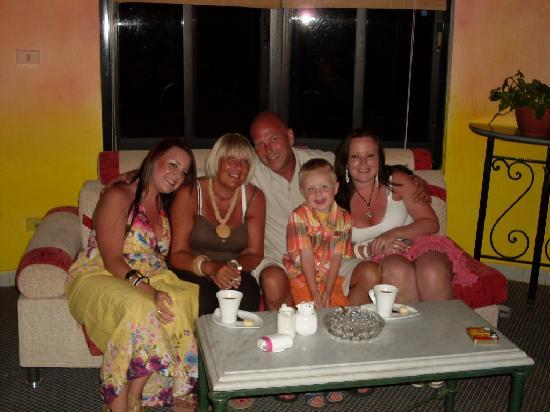 Nuweiba Coral Resort: the family after dinner :)