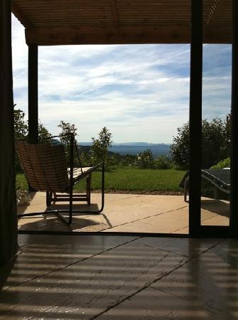 Entre Azur et Maures : terrasse de notre chambre