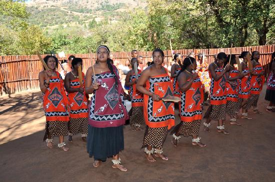 Swaziland: Mantegna - Tribes performing
