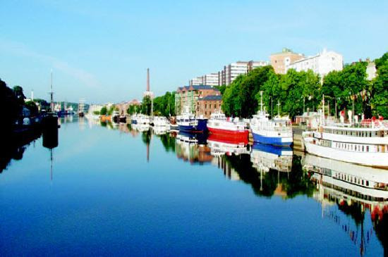 Turku, Finland: View along the river