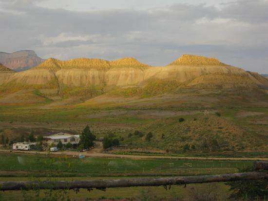Buffalo Sage Bed & Breakfast : Back porch view