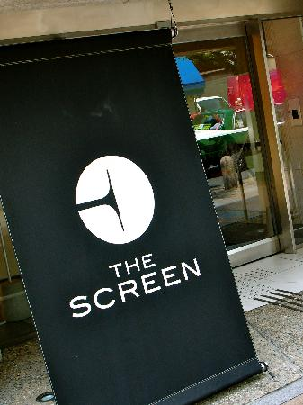 The Screen: Hotel sign.