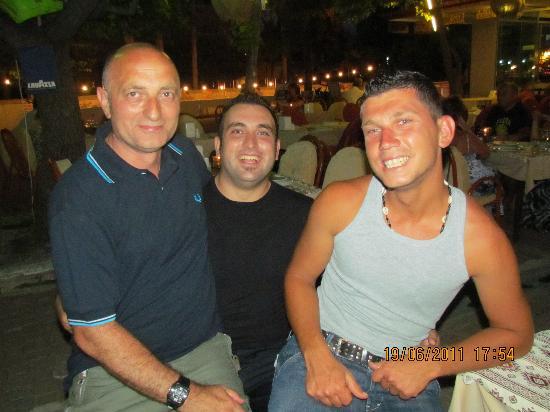Alis Resturant: Myself, Ali and Salem (owner of a wonderful boat)