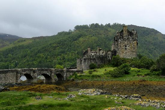 Eilean Donan Castle near Kyle of Lochaish and the Isle of Skye