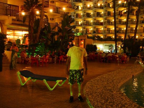 Hotel Ambassador Playa I & II: hubby at hotel