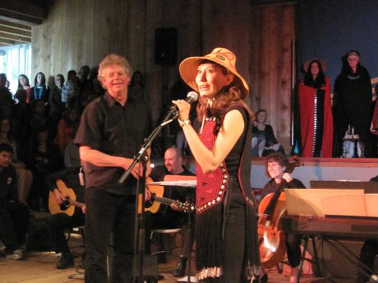 """Chinook Lodge : Haida singer, Terri-Lynn Williams-Davidson, with Producer on launch of new CD, """"New Journeys"""""""