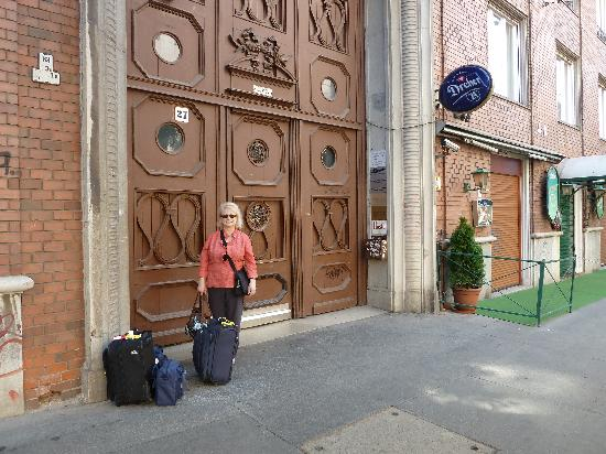 My Wife In Front Of The Main Door To The Building Picture Of