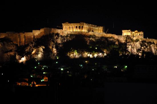 ‪أريثوثا هوتل: Acropolis from the rooftop patio‬
