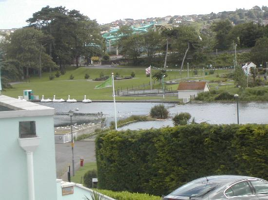 Goodrington Lodge Luxury Apartments: View from bedroom window (zoomed)