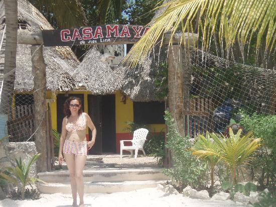 Casa Maya Holbox: en la entrada a casa maya