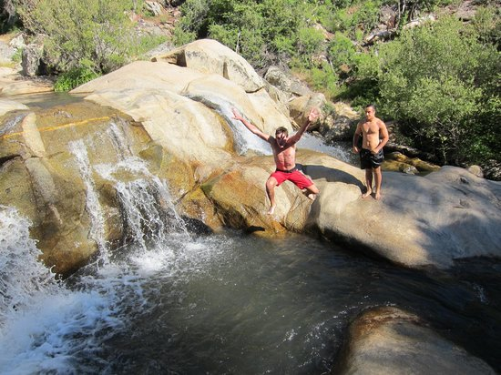 Descanso, CA: The waterfalls at Green Valley Campground
