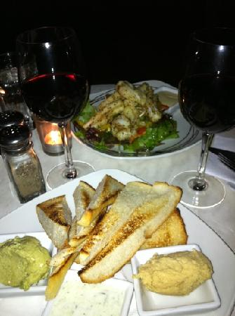 Dragonfly Cafe : Entree of Lemon Pepper Squid & Trio of Dips