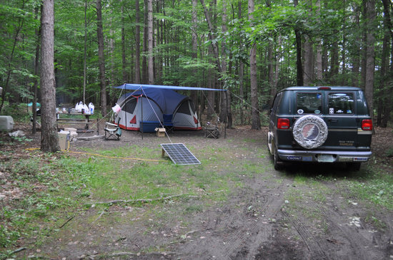 Watkins Glen State Park: Our Campsite in the Seneca Village