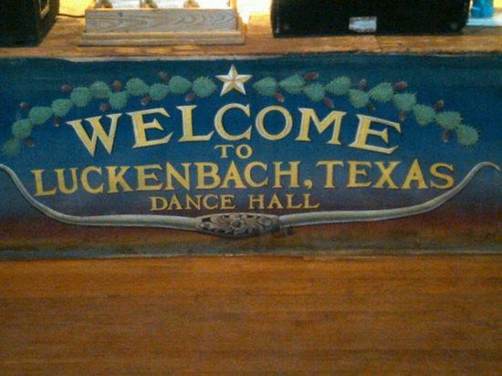 Welcome to Luckenbach Dance Hall