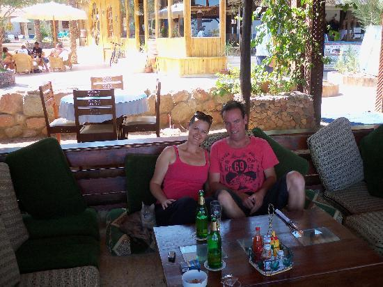 Acacia Dahab Hotel: nice restaurant area, nice food