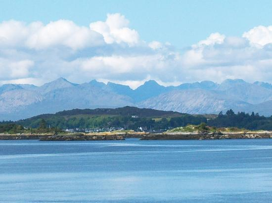 The Sithean: Plockton and Skye from Lochcarron
